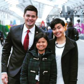 With then NYC commissioner Dingdong Dantes and poet Eunice Andrada