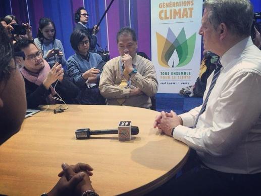 Interviewing Al Gore