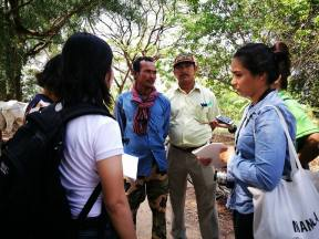 Cambodia participants interviewing farmers